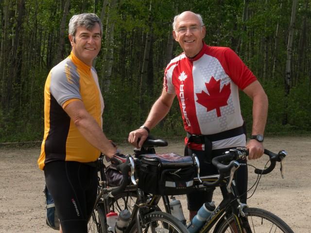 """TdC 2013 """"Team Alberta"""" Neil (L), Michel (R)"""