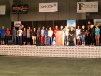 Riders & Volunteers who have MS onstage in Camrose