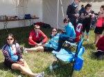 Some of Team Pronto relaxing in Camrose (L-R) Anita, John, Shari, Mandy, James, Nanci, Melanie