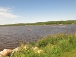 View from the dam in Minnedosa