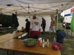 Galley at work - Elaine, Michel, Yukon Greig, Aussie Greg