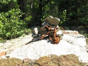 Inukshuk riding a bike