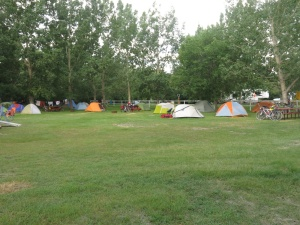 Our tent city in Drumheller