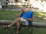Larry enjoying his rest day