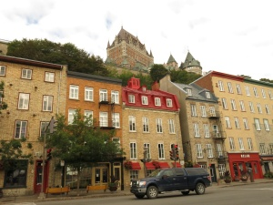 Looking up towards Chateau Frontenac