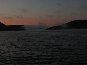 Morning fog over Lake Ainslie