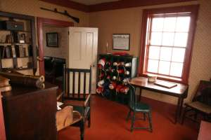 Office in old Cape Spear lighthouse keeper's house