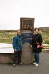 With Susan at Cape Spear
