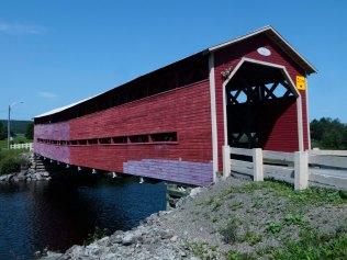 Covered bridge over Matepedia River