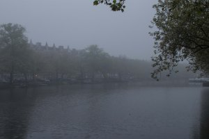 Foggy Amsterdam morning