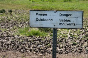 quicksand sign