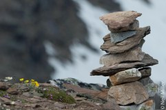 Inukshuk at top of Whistlers