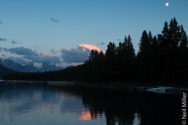 Sunset at Maligne Lake