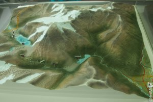 Model of Berg Lake Trail