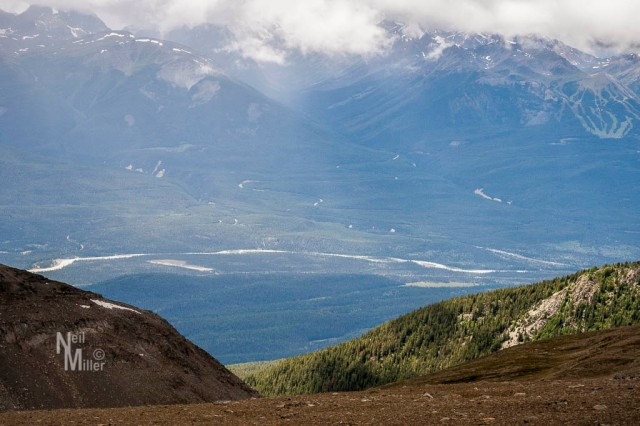 View from The Notch over the Athabasca River Valley