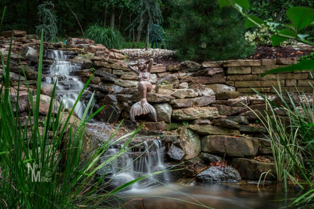 Waterfall and mermaid