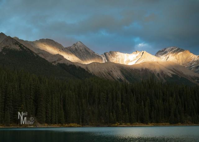 Setting Sun Lights Up Peaks