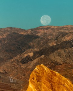 Super Moon setting at Zabriskie Point
