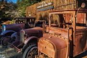Old trucks at gold mine