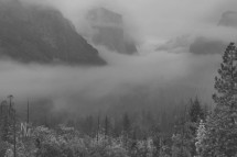 Low cloud over Yosemite Valley