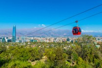 Gondola offers panoramic view of city as it ascends San Cristobal Hill.