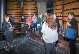 Learning about the winery
